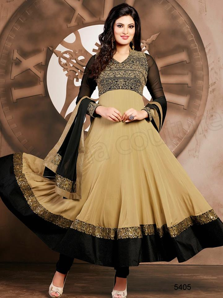 Ladies Wear Beautiful Anarkali Dresses Fashion 2015 (5)