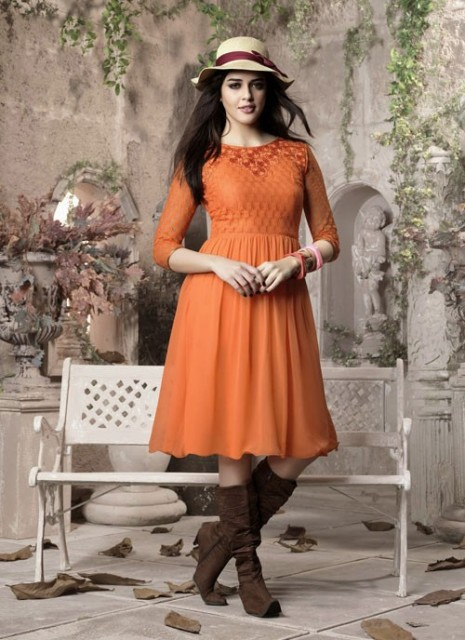 Lavish Padded Kurti Fashion Variety 2014-15 For Ladies (3)