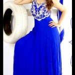 Lovely Designer Party Wear Gown 2014-15 3