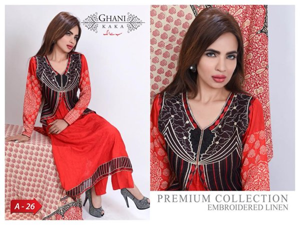 Modern Foggy Seasonal Dresses 2015 For Girls By Ghani Textile (3)