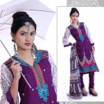 Modern Foggy Seasonal Dresses 2015 For Girls By Ghani Textile (6)