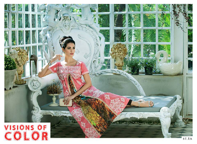 Rabea Kurti Collection 2014-15 By Shariq Textile 1