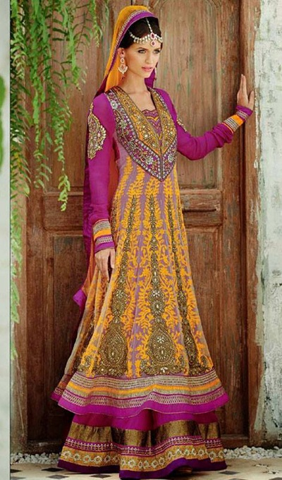 Stunning Floor Length Anarkali Suit Collection 2014-15 7