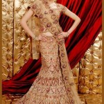Stylish Asian Wedding Popular Choli Gharara Fashion 2014-15 (4)