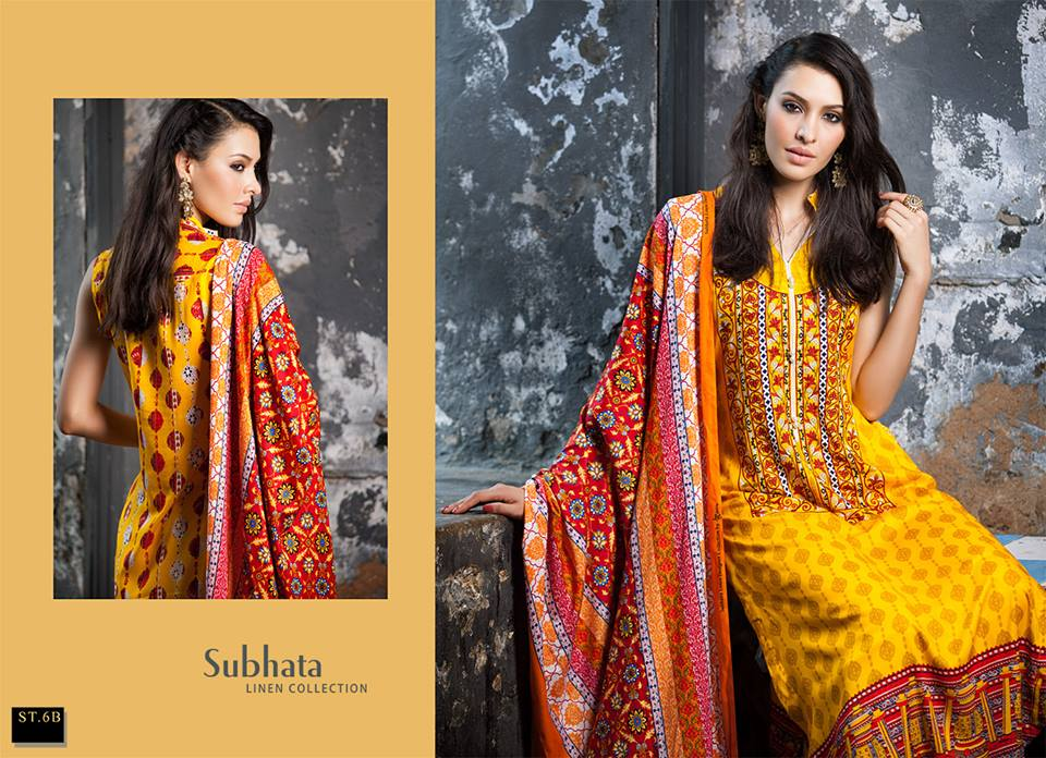 Subhata Linen Collection 2014-15 1