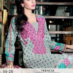Trencia Satin Silk From GulAhmed Fall Winter collection 2014