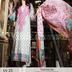 Trencia Satin Silk From GulAhmed Fall Winter collection 2014 2