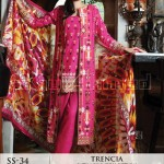 Trencia Satin Silk From GulAhmed Fall Winter collection 2014 3