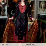 Trencia Satin Silk From GulAhmed Fall Winter collection 2014 5