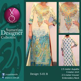 Vs Textile Mills Sumerina Designer Collection 2014-15