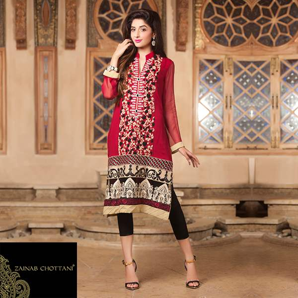 Zainab Chottani Girls Winter Suits Ideas 2014-15 (1)