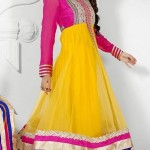 Henna Function Yellow Dresses Collection For Girls 2014-15 (1)