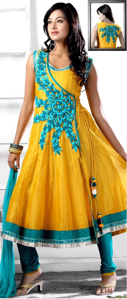 Henna Function Yellow Dresses Collection For Girls 2014-15 (2)