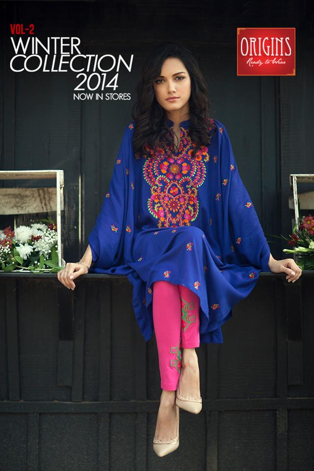 Origins - Ready to Wear Winter Dresses Collection 2014-15 2