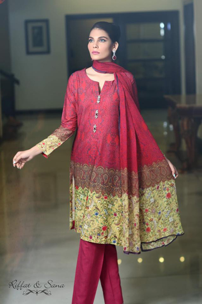 Sana Salman (Riffat & Sana) Dresses Collection 2014-15 1