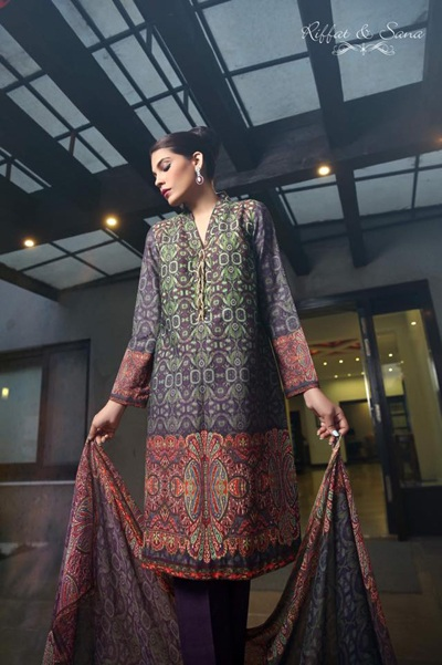 Sana Salman (Riffat & Sana) Dresses Collection 2014-15 4