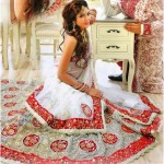 White Ghagra Dress for Bridals