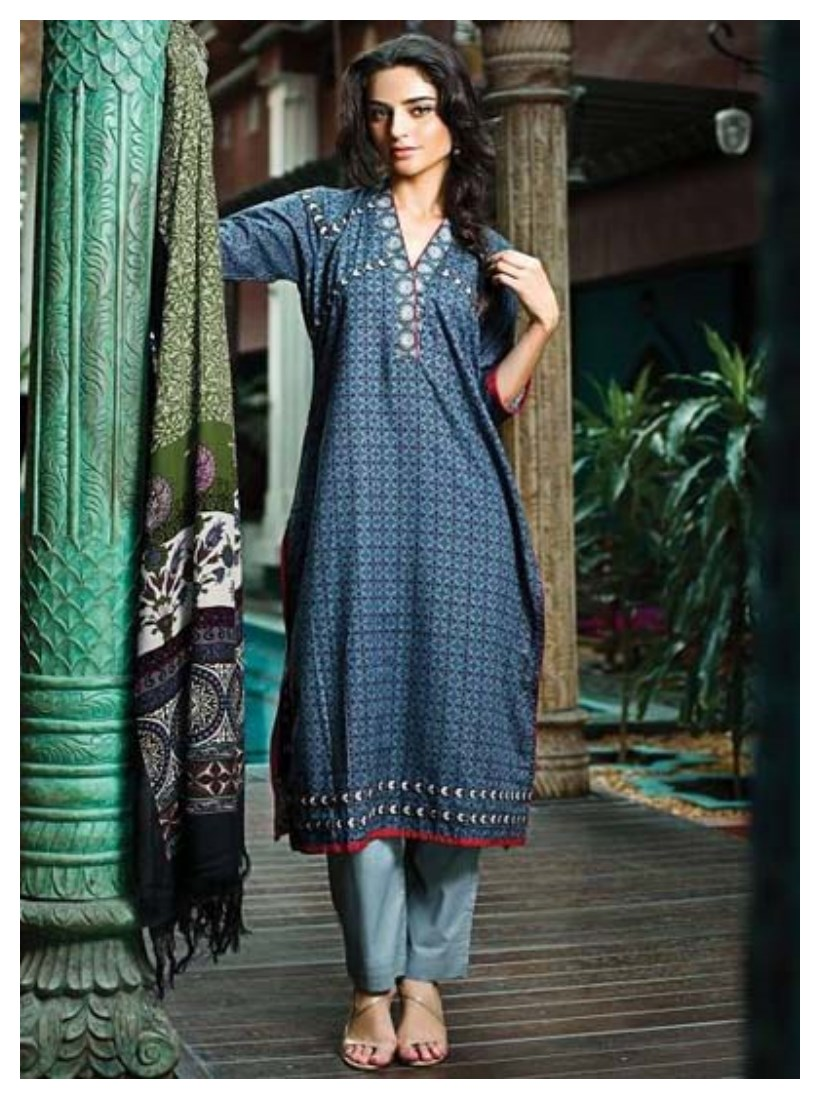Al Karam New Fall Winter Dresses 2015 With Prices