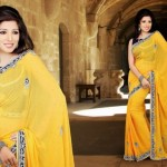 Brides Galleria Yellow Saree 2015 Design for Women (10)