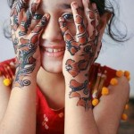 Cute Mehndi Design 2015 for Kids
