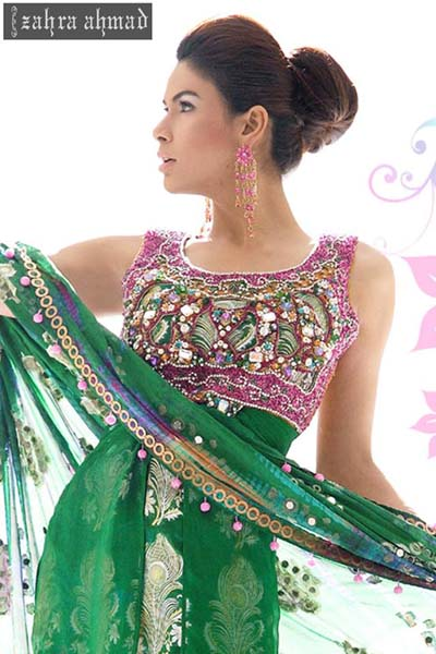 Zahra Ahmad Party Wear Dresses Collection 2015