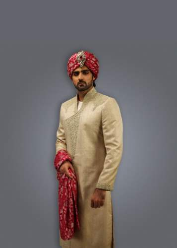 Deepak Perwani Groom Sherwani Designs Collection 2015 (1)