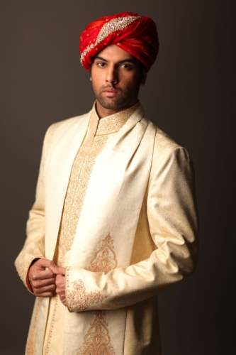 Deepak Perwani Groom Sherwani Designs Collection 2015 (2)