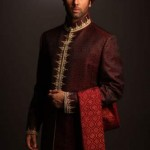 Deepak perwani Groom Sherwani collection 2015 (6)