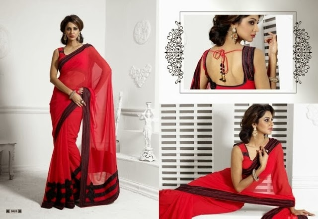 Valentines Day Wear Saree