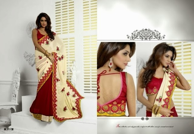 Indian Party Day Saree fashion 2015-16 For Girls (2)