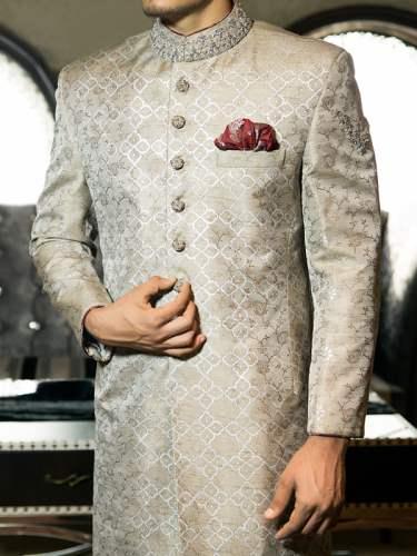 Junaid Jamshed Couture Men Sherwani Collection 2015 (2)