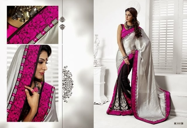 Beautiful Stylish Valentine's Day Brides Saree