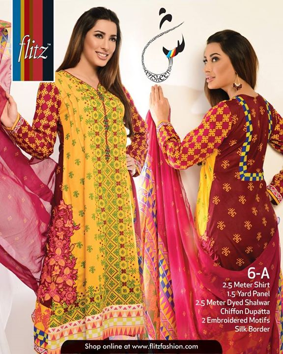 Sheen Lawn Dresses Summer wear 2015-16 by Flitz (1)