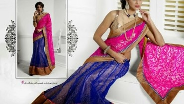 Natasha Couture Indian Party Wear Lehenga Saree 2015