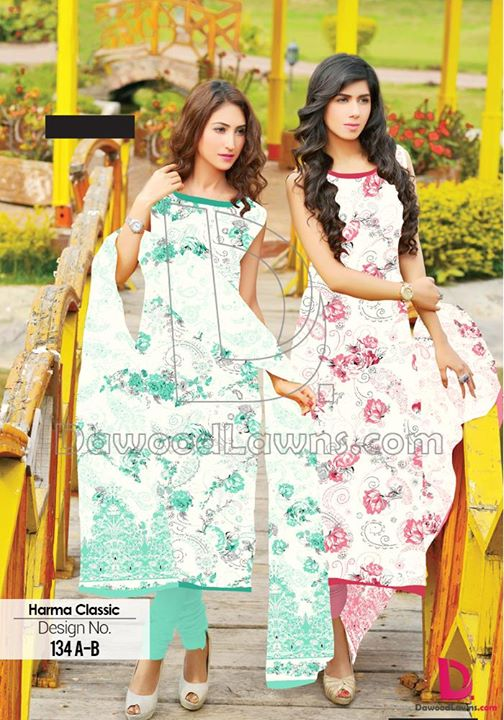 Dawood Harma Classic Summer Lawn Collection 2015  Design