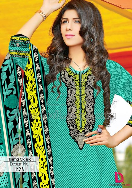 Dawood Textile Harma Classic Summer Lawn Collection 2015