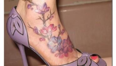 Elegant Feet Tattoos 2016 For Girls