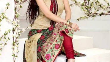 Gul Ahmed Latest Premium Chiffon Dress 2015 for Women (2)