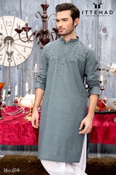 Ittehad Eid ul Fiter Kurta Shalwar 2015 For Men (1)