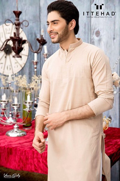 Ittehad Eid ul Fiter Kurta Shalwar 2015 For Men (4)