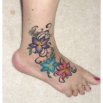 Latest Eid Feet Flower Tattoos Designs 2015