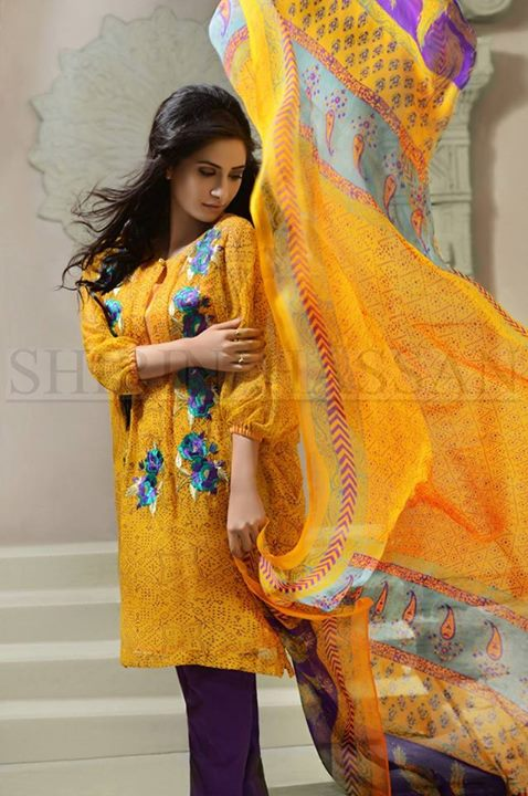 Shirin Hassan Eid days Fashion suits 2015 For Girls (2)
