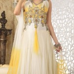 Sleeveless Long Shirts Evening eid Wear for Girls (6)