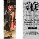 Amna Ajmal Sharwani Turaban dress with price