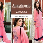 Amna Ismail Chiffon Eid Collection 2015 with Ayeza Khan (2)