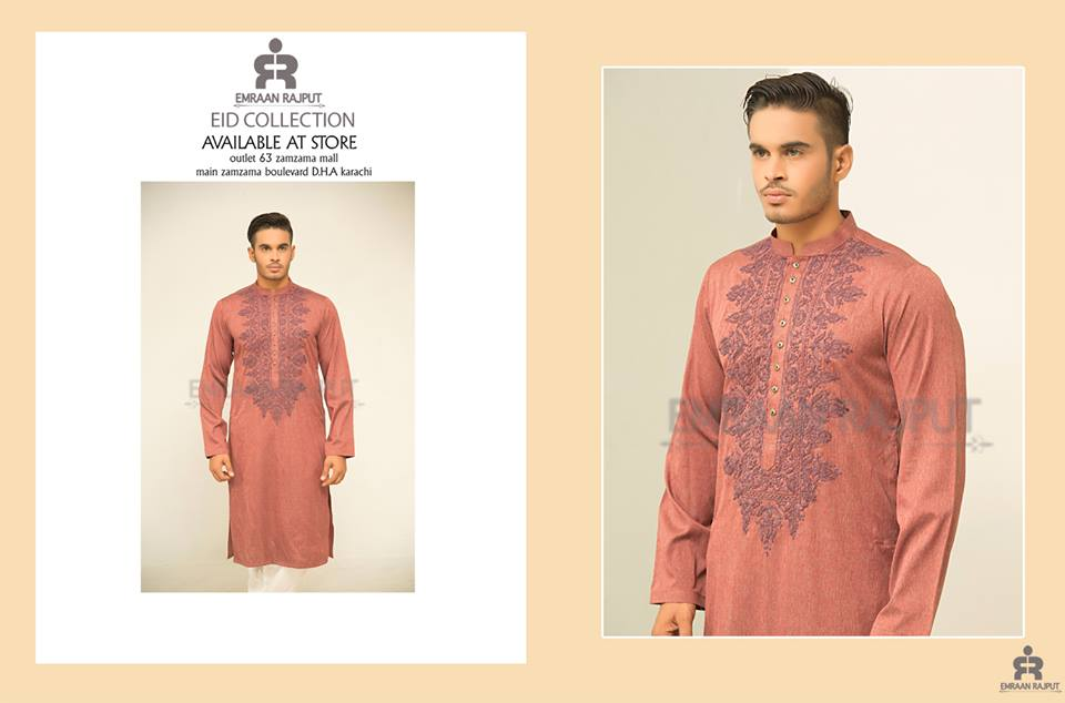 Men Shalwar Kameez Kurta Eid Fashion 2017 by Emraan Rajput