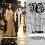 Black frock by Amna Ajmal