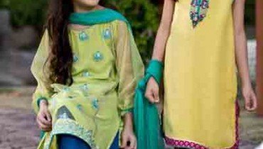 Designer MARIA.B kids Eid Wear Dresses 2015 Collection