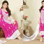 Embroidery Neck Long Length Salwar Kameez for Women