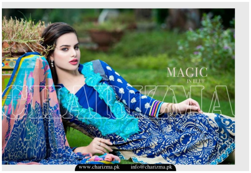 Charizma luxury chiffon eid dress collection 2015 for girls (2)